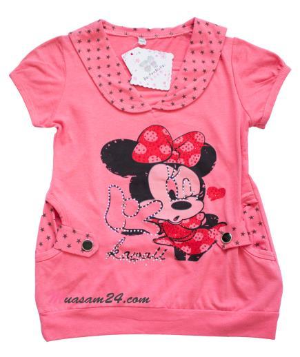 Áo thun bé gái Mickey