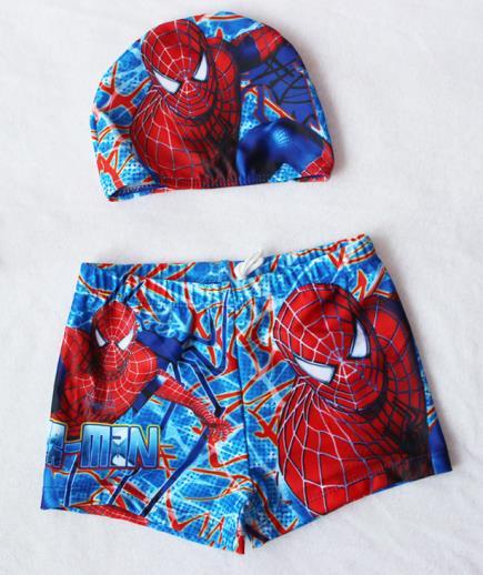 Set quần nón bơi bé trai họa tiết người nhện