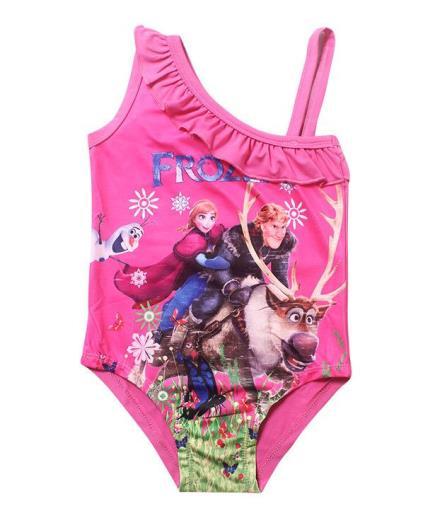 Bộ đồ bơi liền thân bé gái họa tiết hoạt hình