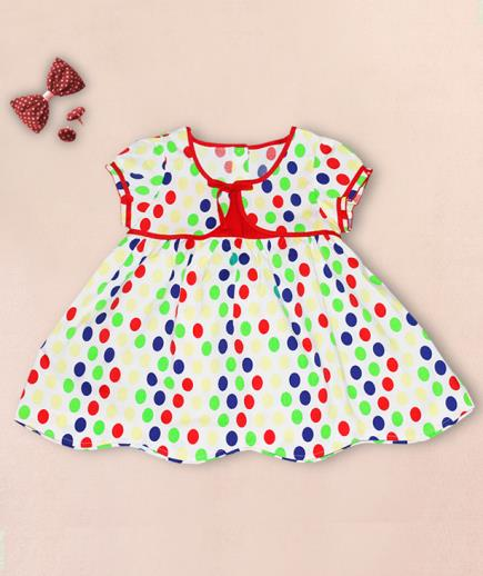 Đầm xòe bé gái họa tiết chấm bi PSF