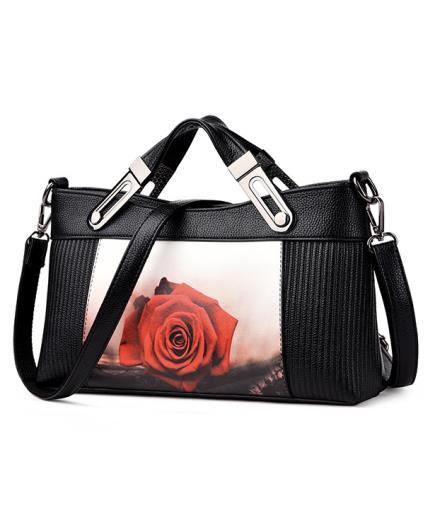 Túi xách cầm tay họa tiết hoa hồng