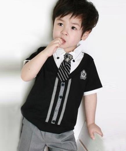 Bộ quần áo bé trai phối cà vạt
