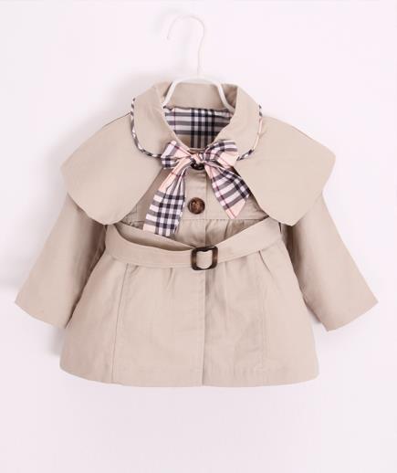 Áo khoác bé gái dạng Burberry For Kid