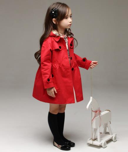 Áo khoác ấm bé gái dạng Burberry