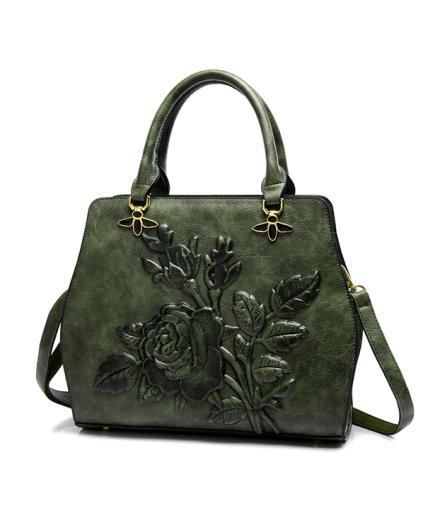 Túi xách cầm tay họa tiết hoa hồng 3D