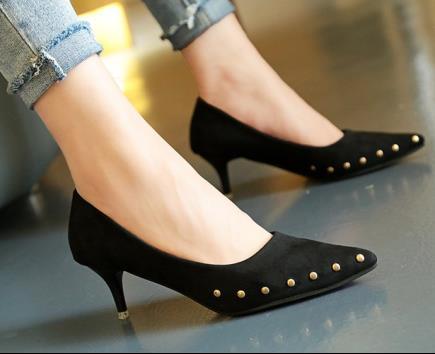 Giày cao gót đinh tán 5cm