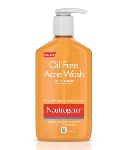 Sữa Rửa Mặt Trị Mụn Neutrogena Oil Free Acne Wash Micro Clear 269ml