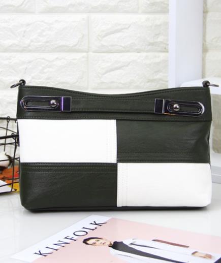 Túi xách cầm tay phối dây đeo caro đen trắng