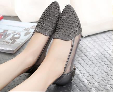 Giày bệt dập lỗ phong cách Hàn Quốc 3cm