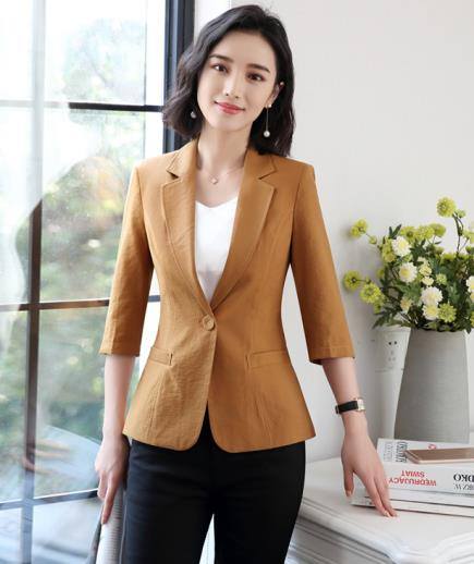 Áo khoác vest công sở nút vải tay lỡ