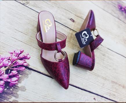 Giày sandal vân da rắn 5cm