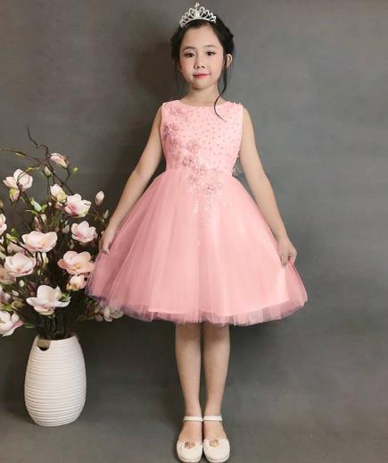 Đầm xòe đính châu công chúa