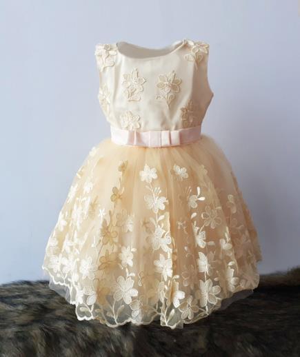 Đầm xòe công chúa đính nơ