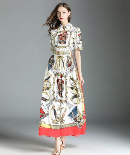 Đầm maxi tay lỡ họa tiết thổ cẩm