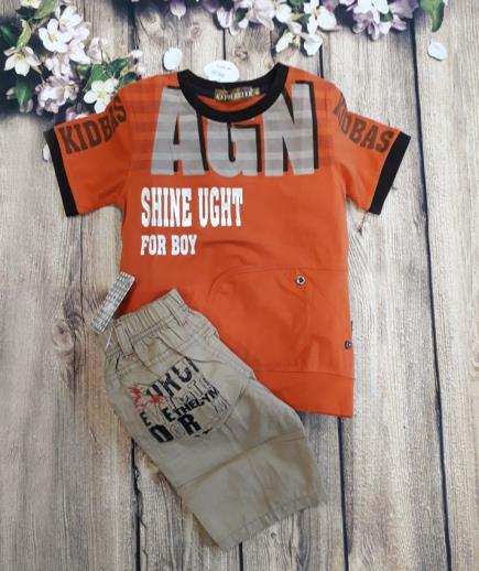 Set đồ quần short áo AGN bé trai