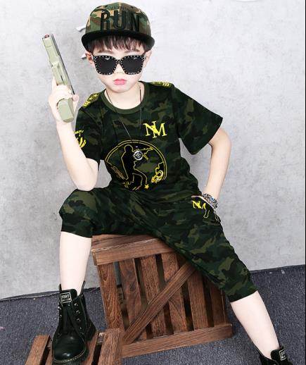 Bộ đồ bé trai rằn ri MN