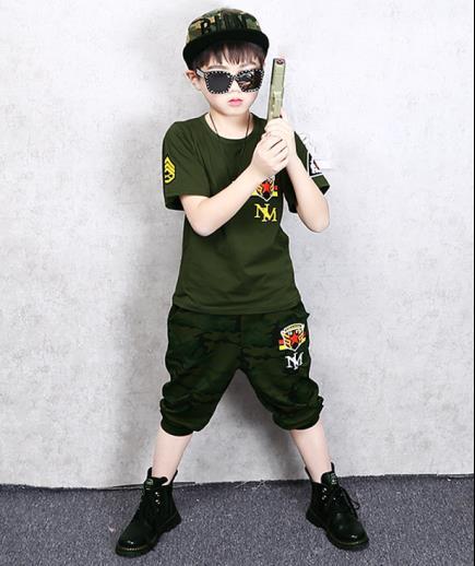 Bộ đồ bé trai MN quân đội