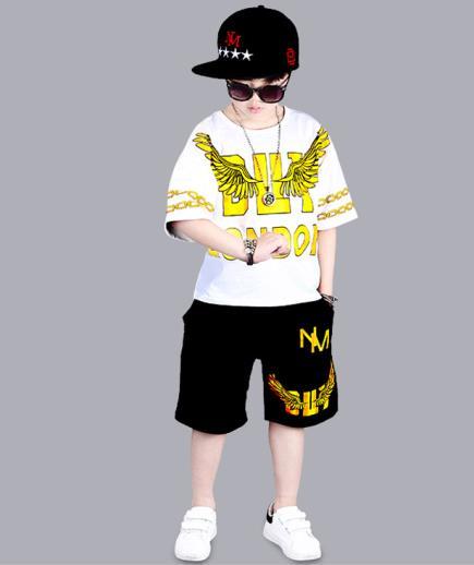 Bộ đồ Hiphop bé trai họa tiết đôi cánh