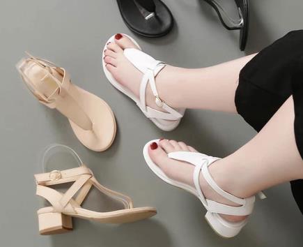 Sandal quai hậu xỏ ngón
