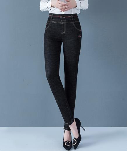 Quần jean lưng cao eo thun