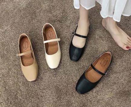 Giày búp bê mũi vuông 2cm