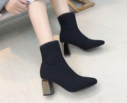 Boot len gót tráng gương 7cm