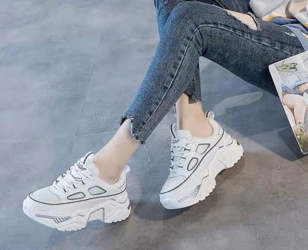Giày thể thao nữ đế kiểu viền màu