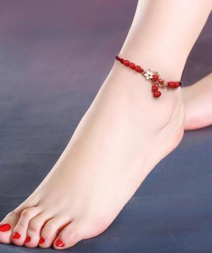 Vòng chân hồ lô đỏ