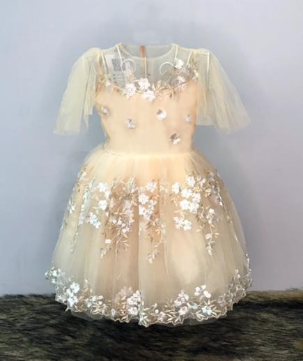 Đầm xòe hoa đăng công chúa