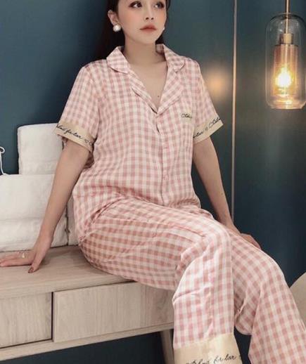 Set pijama họa tiết caro