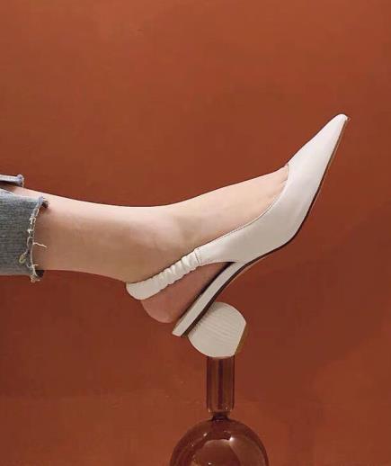 Sandal dây thun hậu gót tròn 3cm