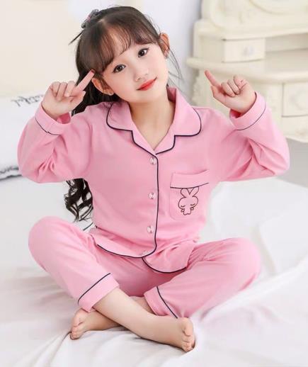 Set bộ pijama bé trai bé gái thêu họa tiết gấu
