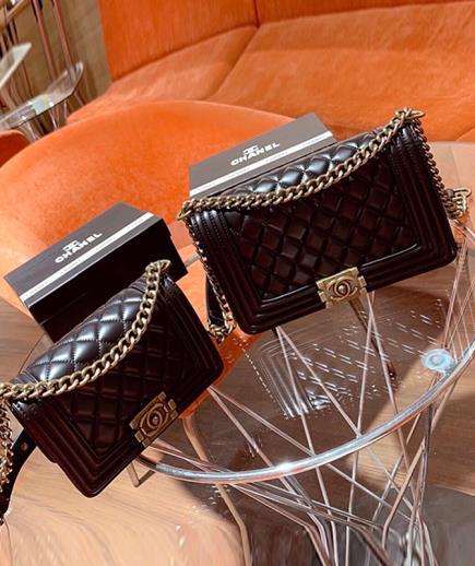 Túi xách đeo vai kết hợp đeo chéo họa tiết caro