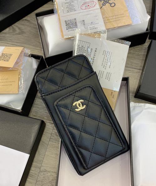 Túi da đựng điện thoại thời trang dập caro