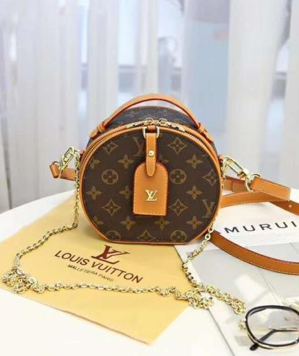 Túi đeo chéo dạng hộp tròn họa tiết LV