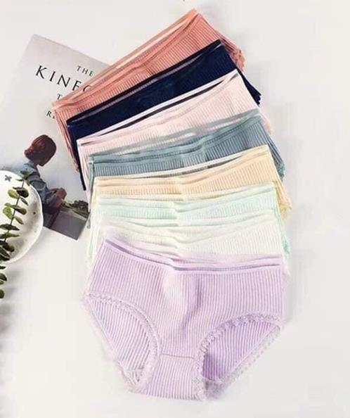Combo 10 quần lót phối sọc viền ren