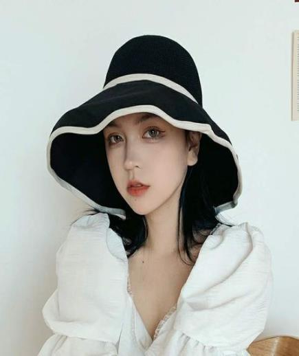 Mũ rộng vành thắt nơ Korea