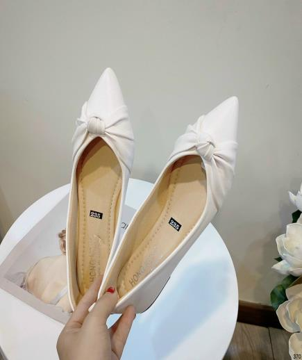 Giày búp bê phối nơ thắt 1cm