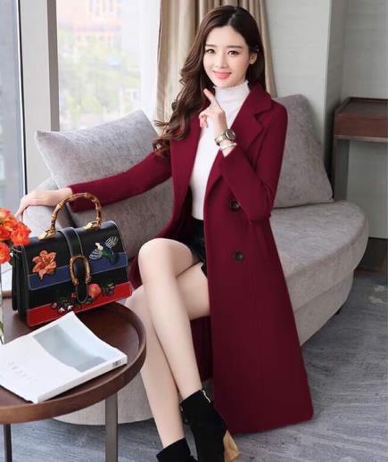 Áo khoác dạ cổ vest dáng dài