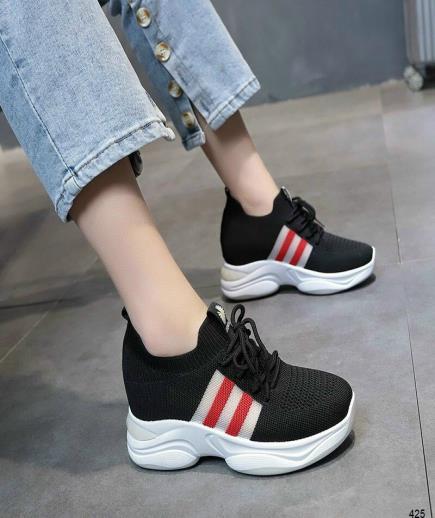 Giày đế độn phối 2 sọc màu 7cm