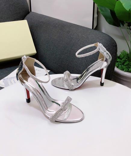 Giày cao gót đính đá dây mảnh 9cm