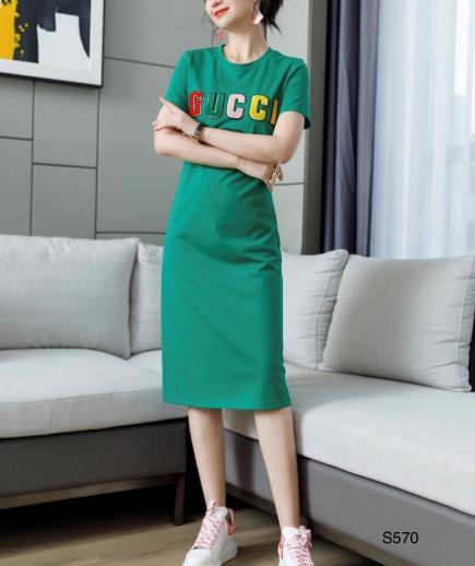 Đầm suông thun họa tiết chữ GC