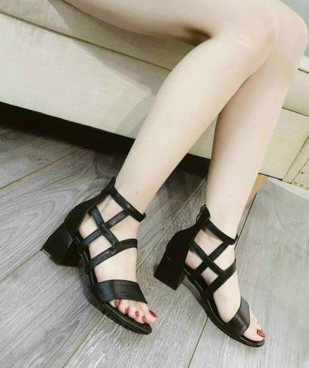 Sandal quai bản ngang khóa sau 5cm