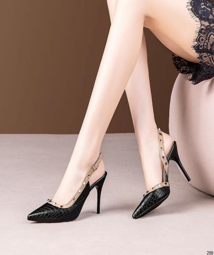 Giày cao gót công sở phối đinh tán 9cm