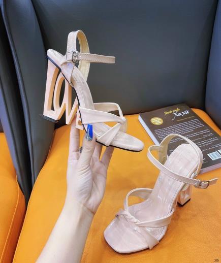 Giày cao gót quai chéo gót kiểu 8cm
