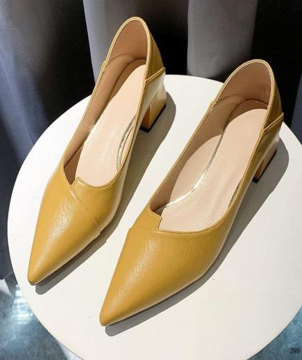 Giày mũi nhọn quai đắp chéo 5cm