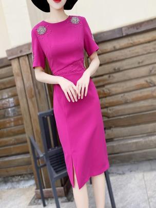 Đầm ôm cao cấp đính hoạ tiết